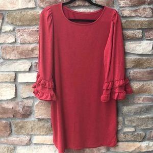 Max Studio Ruffle-Sleeve SweatShirt Dress